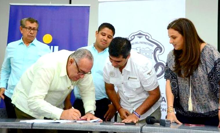 Alcalde Char firmó convenio con el CODEBA y el ITSA para brindar formación a 4.000 estudiantes