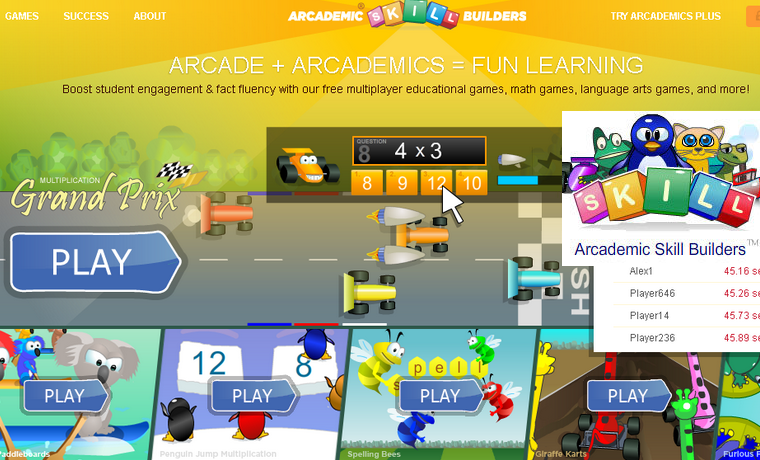 Arcademic Skill Builders - Juegos Educativos